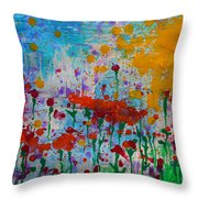 Sunny Day Throw Pillow by Jacqueline Athmann