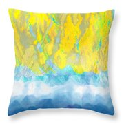 Sunny Day Waters Throw Pillow