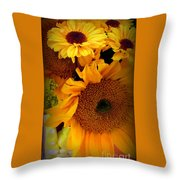 Sunny Easter Bouquet Throw Pillow