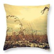 Sunny Field Throw Pillow