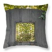 Sunny Garden Gate In Charleston Throw Pillow