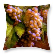 Sunny Grapes - Edition 1 Throw Pillow
