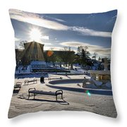 Sunny In The Snow Throw Pillow