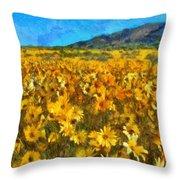 Sunny Meadow Throw Pillow