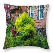 Sunny Morning Mayfair Throw Pillow
