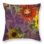 Sunny Pumpkin Throw Pillow
