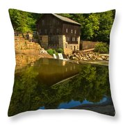 Sunny Refelctions In Slippery Rock Creek Throw Pillow