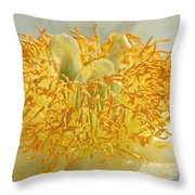 Sunny Side Peony Throw Pillow