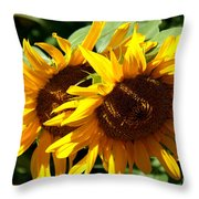 Sunny Sisters Throw Pillow
