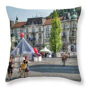 Sunny Slovenia Throw Pillow