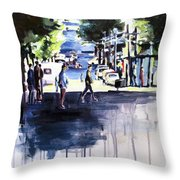 Sunny Street  Throw Pillow
