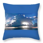 Sunny Waterfall Over The Bay Filtered Throw Pillow