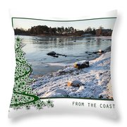 Sunny Winter Day Throw Pillow