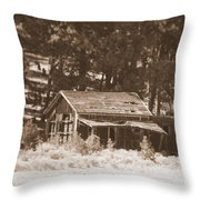 Sunny With Two Porches Throw Pillow