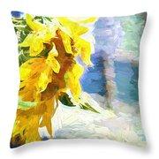 Sunnyabstracted Throw Pillow