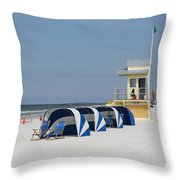 Sunnyday At Clearwater Beach Throw Pillow