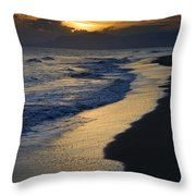 Sunrays Over The Sea Throw Pillow