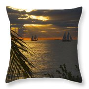 Sun Rays Through The Clouds Throw Pillow