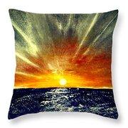 Sunrays Throw Pillow