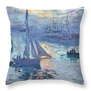 Sunrise - Marine Throw Pillow