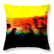 Sunrise Above The Trees Throw Pillow