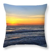 Sunrise And Waves Throw Pillow