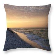 Beach Sunrise Throw Pillow