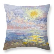 Sunrise As The Fog Blew In Throw Pillow