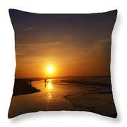 Sunrise At Atlantic City Throw Pillow