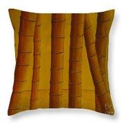 Sunrise At Bamboo Grove Throw Pillow
