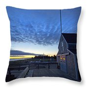 Sunrise At Barnstable Yacht Club Throw Pillow