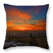 Sunrise At Bear Rocks In Dolly Sods Throw Pillow by Dan Friend