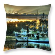 Sunrise At Billy's Throw Pillow by Michael Thomas