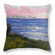Sunrise At Burliegh Heads Throw Pillow
