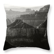 Sunrise At Cape Royal Point Throw Pillow