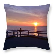 Sunrise At Cape Spear St Johns Newfoundland Throw Pillow