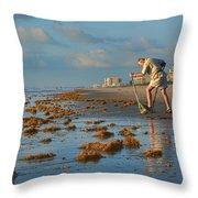 Sunrise At Cocoa Beach Throw Pillow