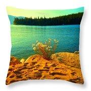 Sunrise At Daisy Lake Throw Pillow