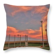 Sunrise At Field Of Dreams Throw Pillow