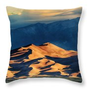 Sunrise At Great Sand Dunes Throw Pillow