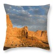 Sunrise At La Sal Mountians Throw Pillow