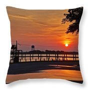 Sunrise At Lake Shelby Throw Pillow