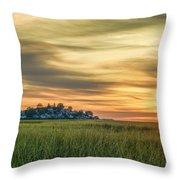 Sunrise At Little Neck Throw Pillow