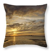 Sunrise At Low Tide - Sleepy Cove Throw Pillow