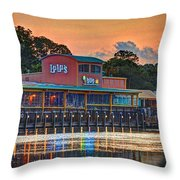 Sunrise At Lulu's Throw Pillow by Michael Thomas