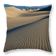 Sunrise At Mesquite Flat Sand Dunes Throw Pillow