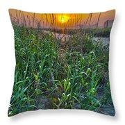 Sunrise At Myrtle Beach Throw Pillow