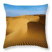 Sunrise At Oceano Sand Dunes Throw Pillow