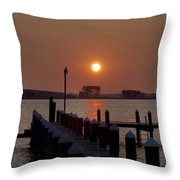 Sunrise At Piney Point Maryland Throw Pillow