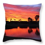 Sunrise At Polly's Throw Pillow